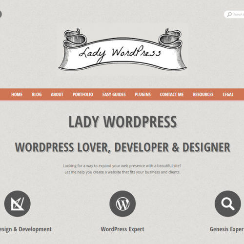 Lady Wordpress