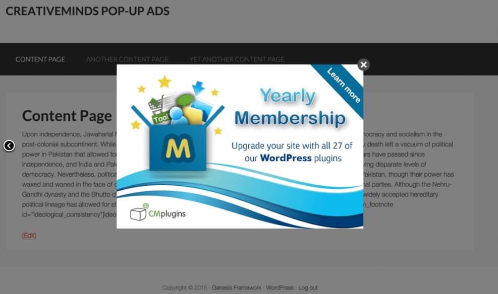 ListWP Business Directory CM PopUp Plugin